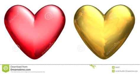 imagenes de corazones metalicos dos corazones met 225 licos 3d fotograf 237 a de archivo libre de