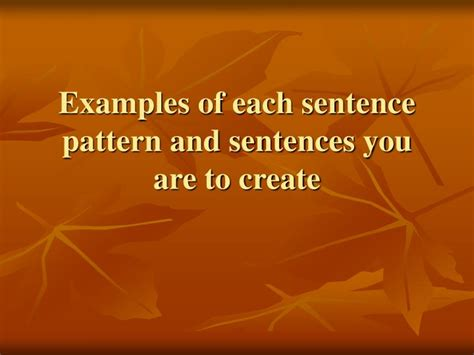 sentence pattern for svoc ppt sentence patterns powerpoint presentation id 5439787