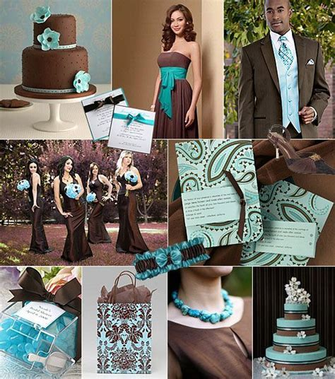 Turkos brunt färgtema på bröllop / Color theme: turquoise