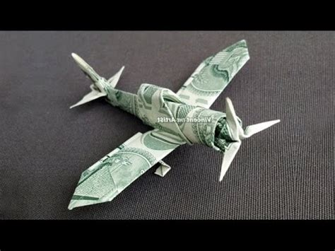 Dollar Bill Origami Airplane - zero fighter plane money origami dollar bill