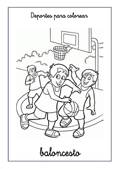 imagenes niños haciendo deporte para colorear dibujos de deportes para colorear