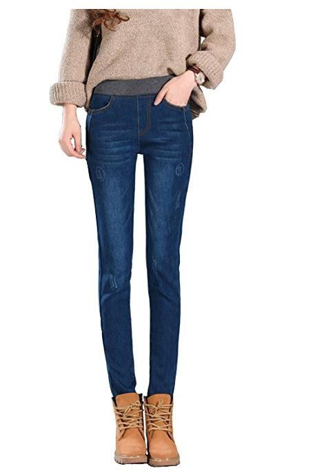 Fleece Lined Slim Fit s plus size fleece lined high waist winter