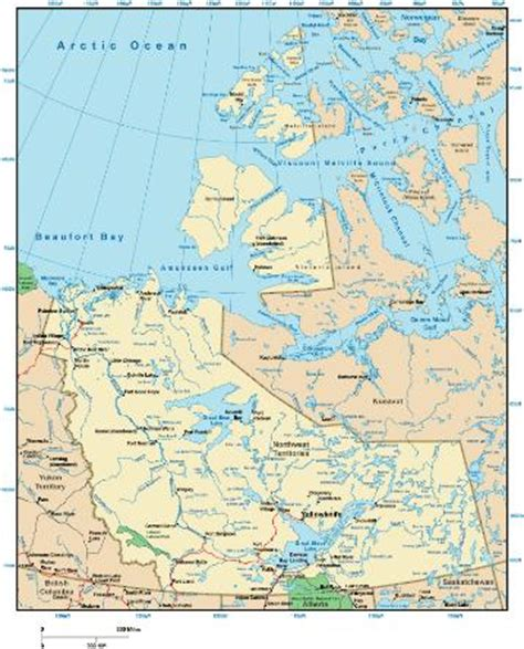printable map of yellowknife northwest territories map online maps of northwest