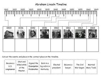 biography of abraham lincoln worksheet president s day abraham lincoln photo timeline by d