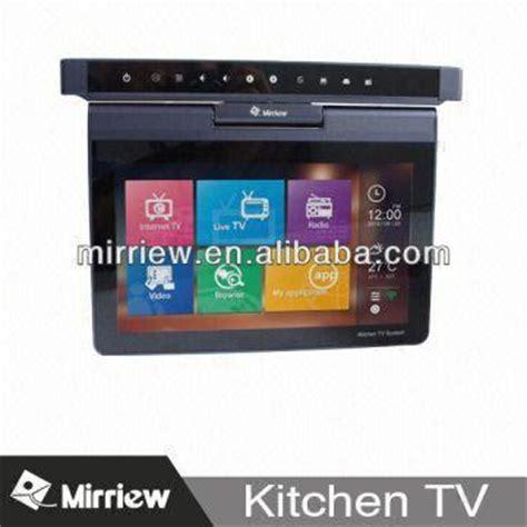under cabinet flip down kitchen tv trekkerboy mirriew 10 1 flip down kitchen tv under cabinet