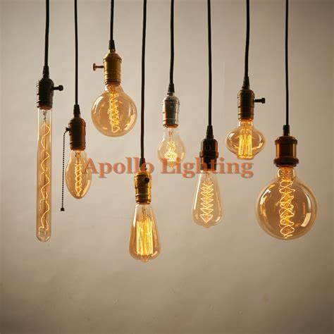 handmade lighting fixtures 40w 110 240v vintage retro diy e27 spiral incandescent