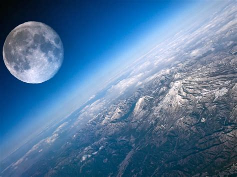 moon  earth close   wallpaperscom