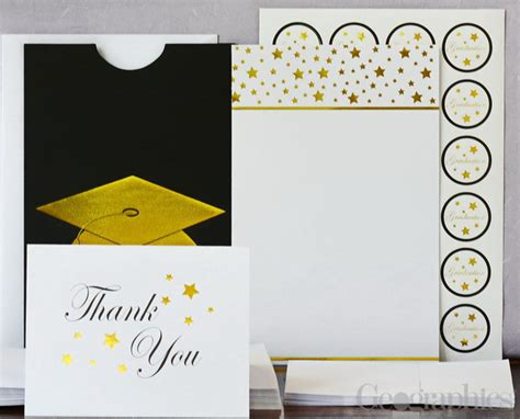 Printable Graduation Invitation Kits Cogimbo Us | graduation cap deluxe invitation kit gold foil set 24