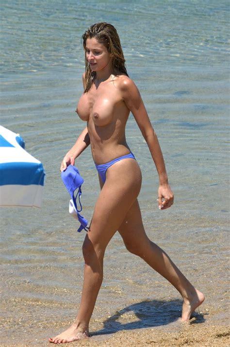 Adriana Volpe Candid Topless Beach Bikini Pictures Gutteruncensored Com