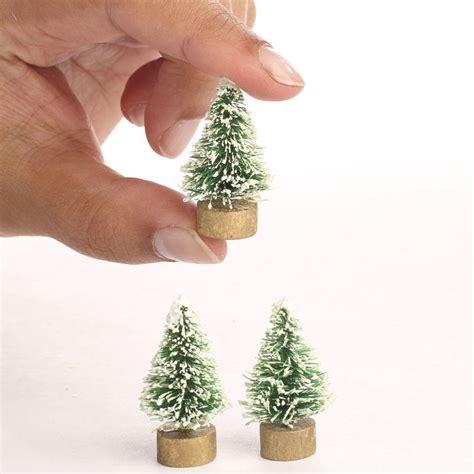 miniature bottle brush trees miniature frosted green bottle brush trees