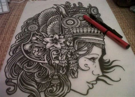 apsara tattoo apsara drawings paintings headdress
