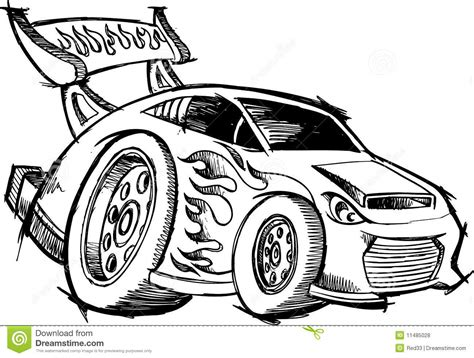 doodle racer doodle rod race car royalty free stock photos image