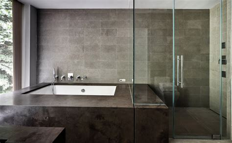 Modern Bathroom Glass Tile Restored 1969 Modern Glass House Modern Bathroom New