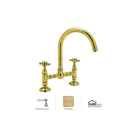 rohl country kitchen bridge faucet rohl a1461lpib 2 inca brass country kitchen bridge faucet