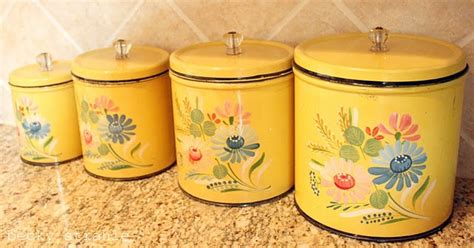 Kitchen Canisters Antique Antique Canister Set Kitchen
