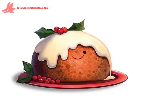 christmas creation food daily paint 1127 pudding by cryptid creations on deviantart