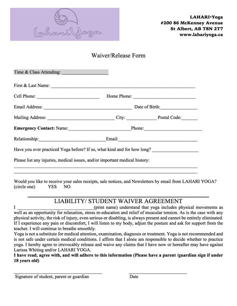 photo release form template canada waiver print lahari