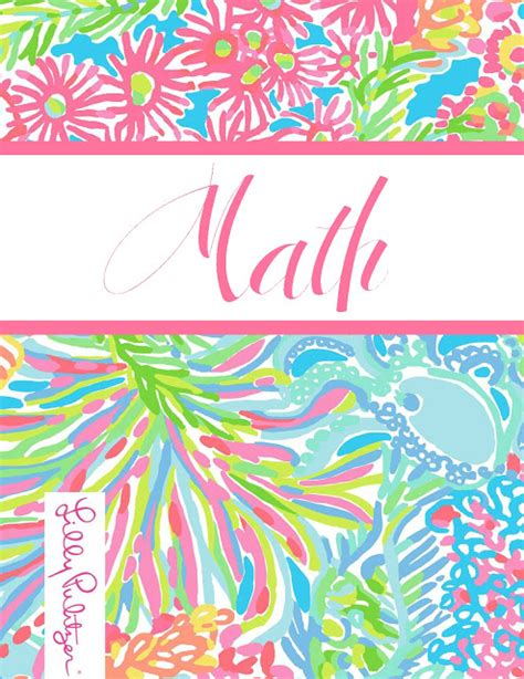 math binder cover templates preppy goes back to school a fourth time