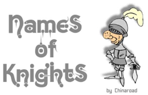 Knights Of The Table List by Thousands Of Names Of Knights And Titles For Your Or Pet From Chinaroad Lowchens Of Australia