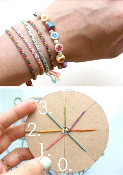 friendship bracelets   circular cardboard loom handmade ideas friendship