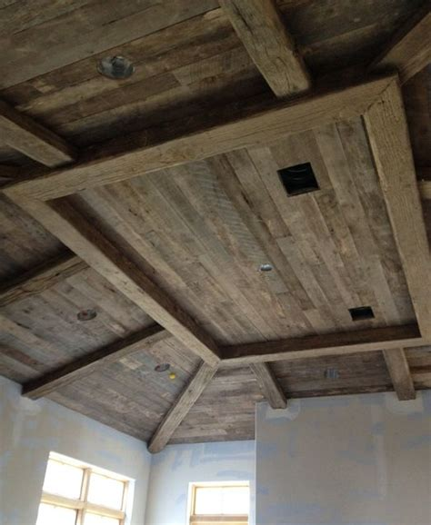 reclaimed wood ceiling home details pinterest