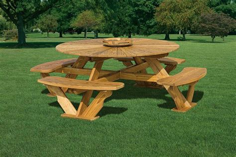 Wood Picnic Table Lowes Lowes Picnic Table Sets Allen Roth Woodcroft 6ft 8in X