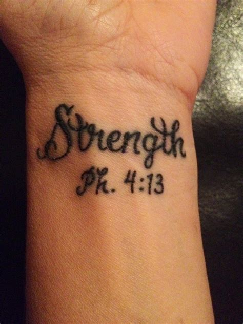 strength philippians 4 13 tattoos pinterest