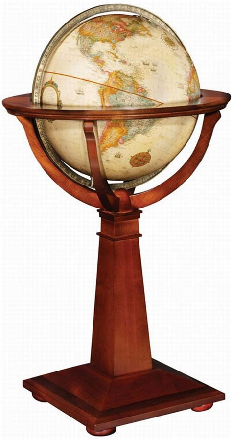 clockway 16in replogle logan antique floor globe crp1050