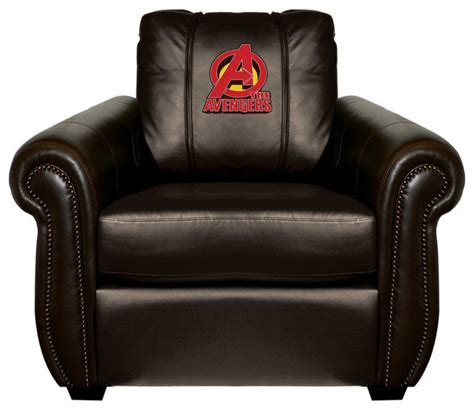 Avengers Chair by Avengers Chesapeake Brown Leather Arm Chair Traditional