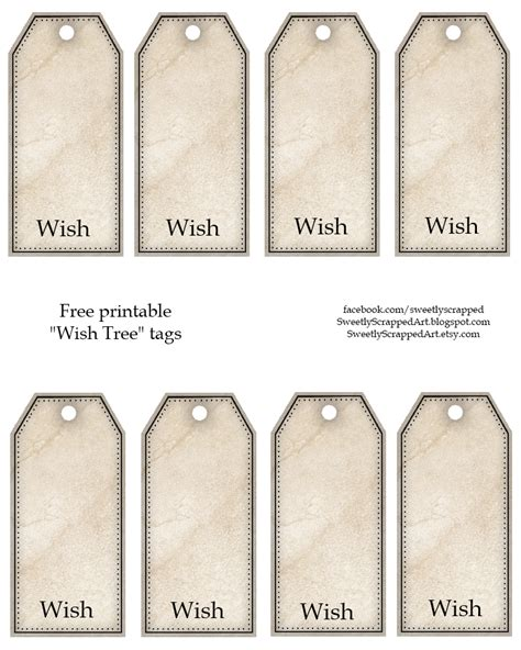 Wishing Tree Tags Template sweetly scrapped free printable tags 3 different sets