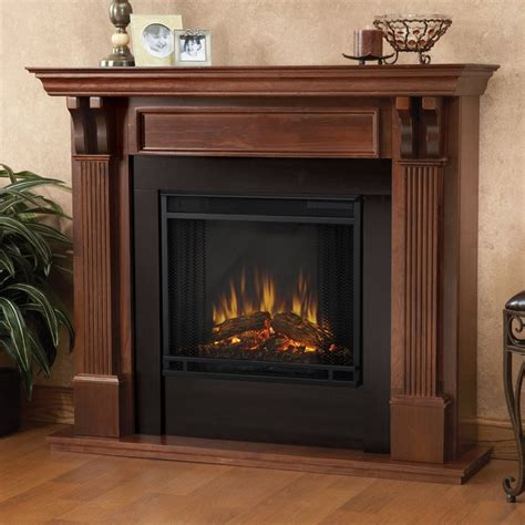 overstock electric fireplace real mahogany electric fireplace