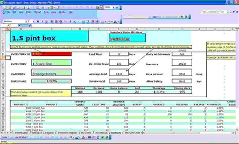 6 excel inventory management template procedure