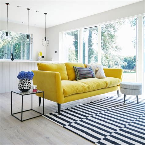 yellow sofas and loveseats that yellow velvet sofa sophie robinson