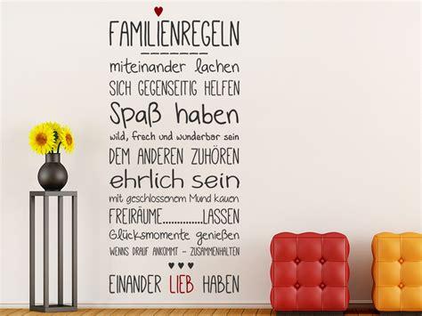 Wandtattoo Kinderzimmer Geschwister by Wandtattoo Familienregeln Mit Herz Wandtattoo De