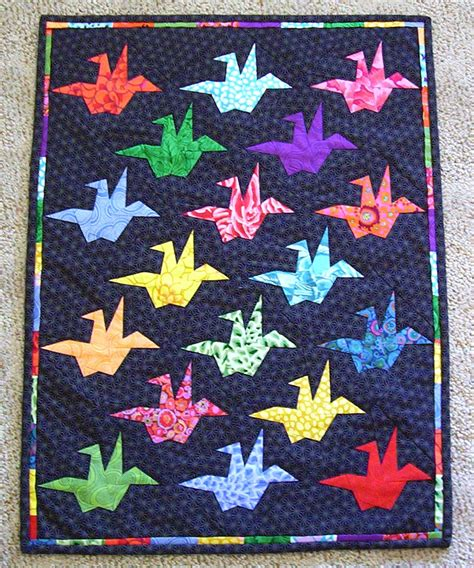 Origami Crane Quilt Pattern - peace quilt by margaret rolfe