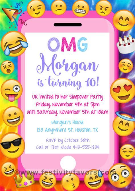 Emoji Party Birthday Invitations Kids Birthday Emoji Birthday Invitation Template