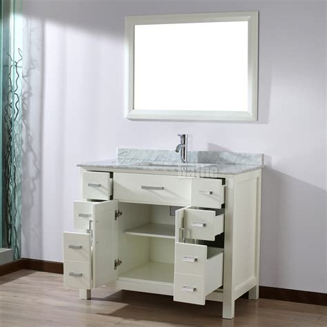 Bathe Vanities by Studio Bathe 42 Inch White Finish Bathroom Vanity