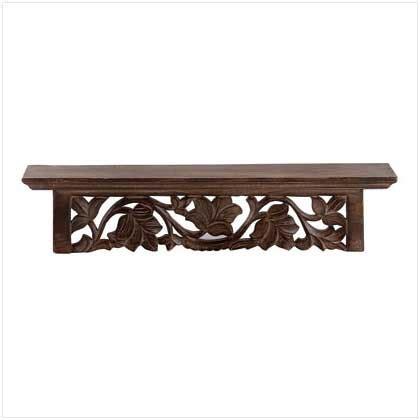 Carved Wall Shelf carved island wall shelf