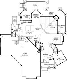 corner house plans open layout on one level homes bamboo floor