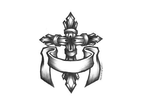 cross creek tattoo gallery black cross outline www pixshark images