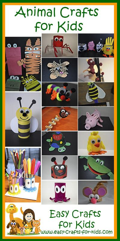 easy animal crafts for free crafts for