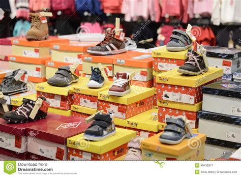 kid shoes stores sport shoe in the store editorial photography image