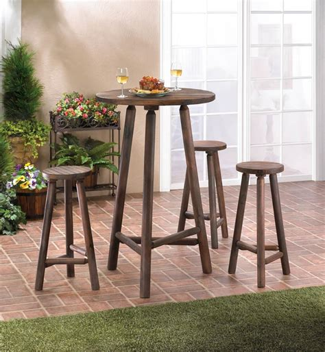 wood bar table and stools fir wood bar table bar stools set all wholesale gifts