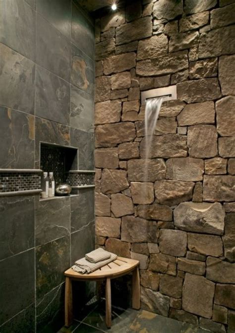 Rock Shower by Shower With And Waterfall Spout Favething