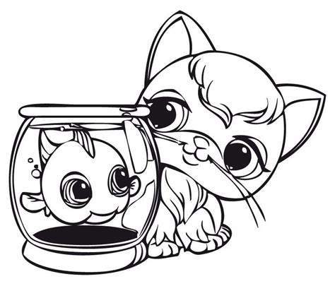 lps coloring pages cat cute lps cat coloring pages for print 69coloringpages