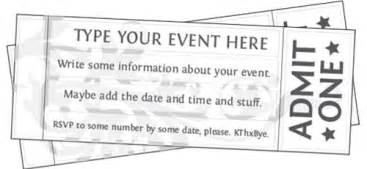 free template for tickets to events free printable event ticket templates free printables
