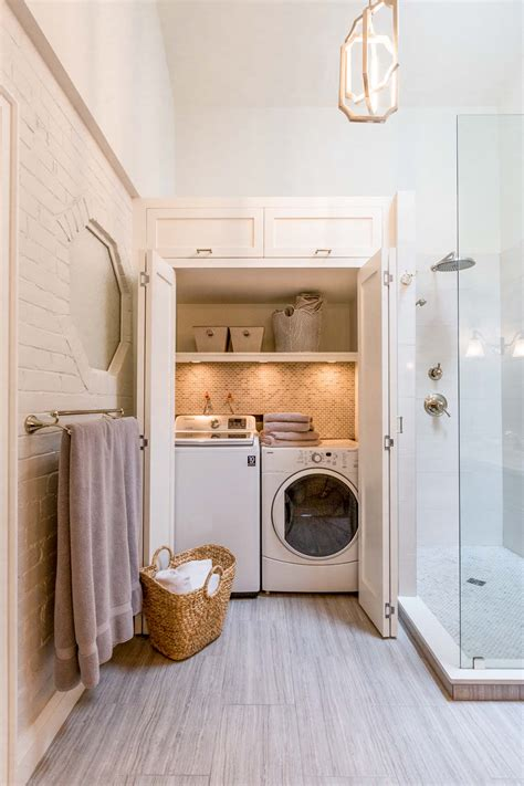 Bathroom Laundry Room Ideas | 23 small bathroom laundry room combo interior and layout