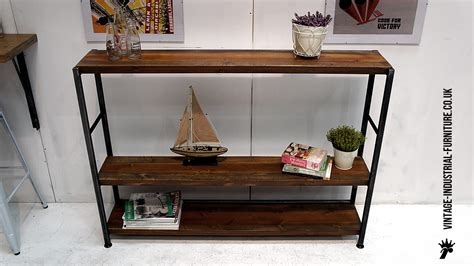 vintage wood and metal string shelving system for sale at vintage industrial shelving