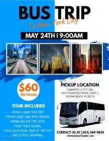 customizable design templates for bus trip flyer