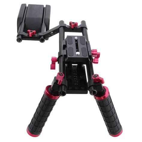 Stabilizer Kamera Shoulder Support Rig Handgrip Omcsdybk camvate camcorder dslr stabilizer shoulder mount support rig kit w dual grip